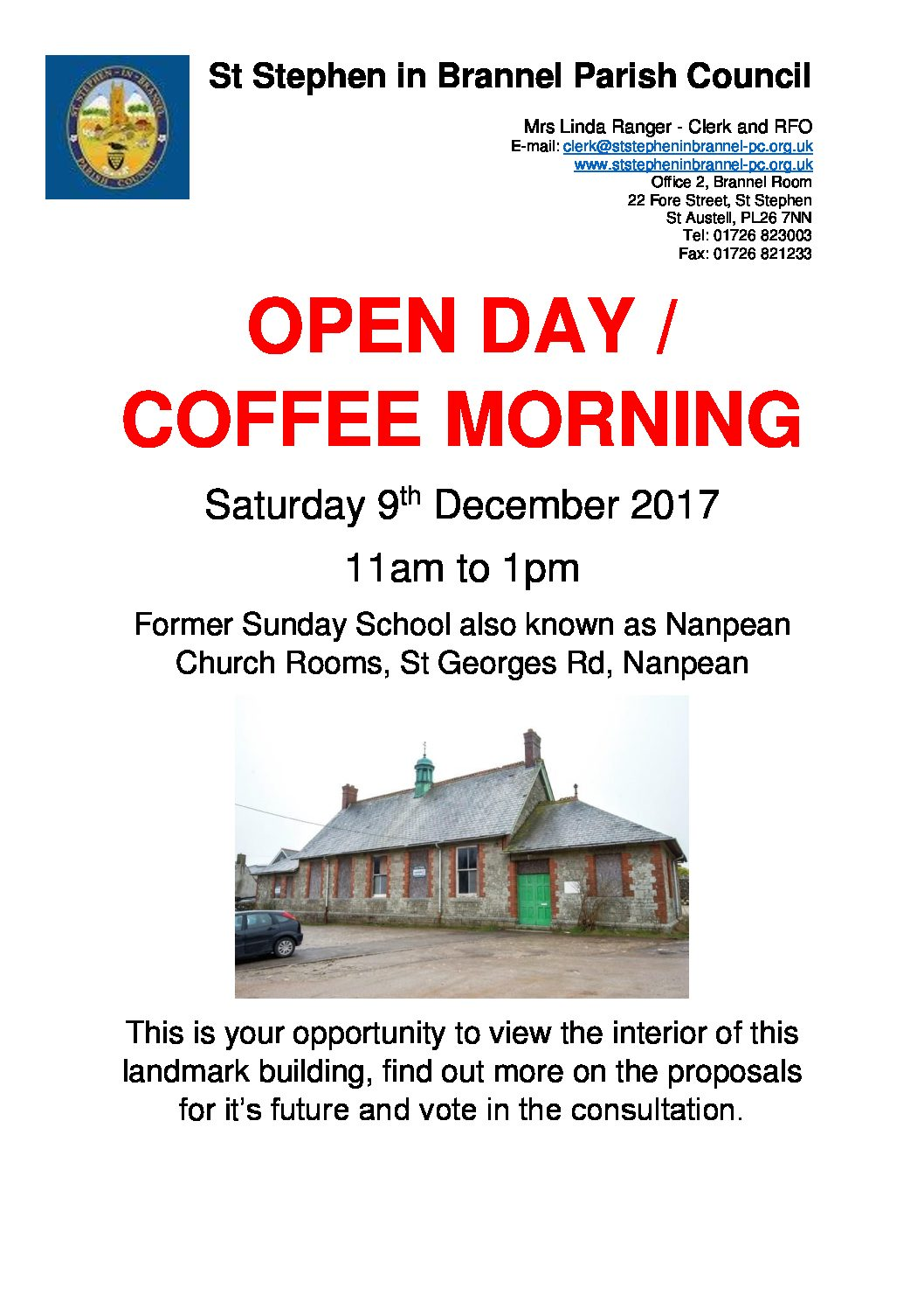 Open Day / Coffee Morning